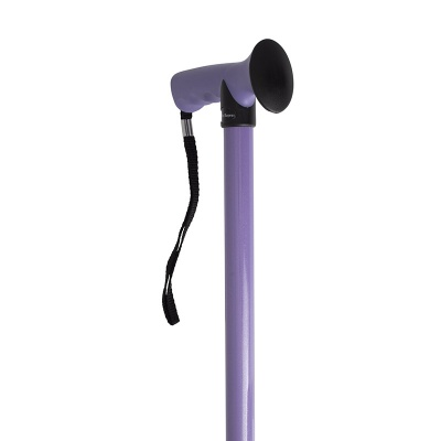 Adjustable Lilac Gel Handle Walking Stick Walkingsticks